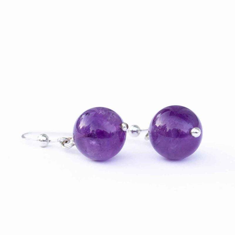 violetit ametisti korvakorut